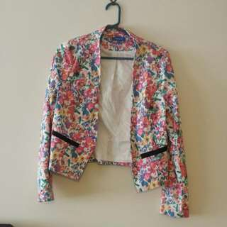 Valley Girl Floral Blazer