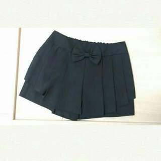 [二手] 黑色百褶造型褲裙