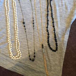 Necklaces x 4