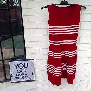Red White Dress