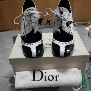 降!!黑白復古Dior牛津鞋~尺寸37.5