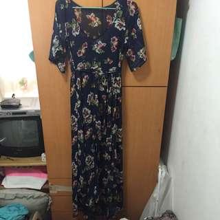 Sale - A&F Abercrombie & Fitch Kimono Maxi Dress