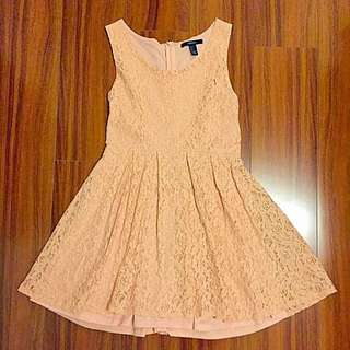 Forever 21 Pink Lace Dress