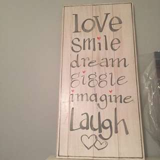 Love Smile Dream Wall Hanging