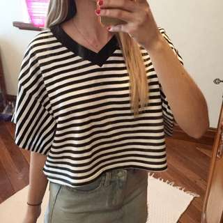 The Fifth striped oversize tee