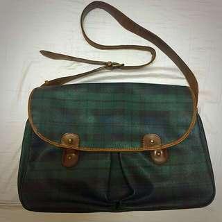Polo Ralph Lauren 綠色經典格紋包
