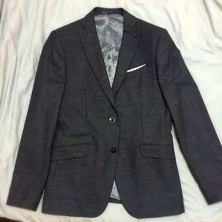 ZARA MAN 深灰色西裝外套 Blazer