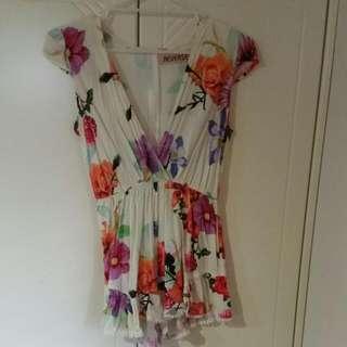 Floral Jumpsuit Size M