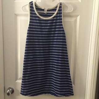 🚚 Forever21 L號 海軍風 條紋裙