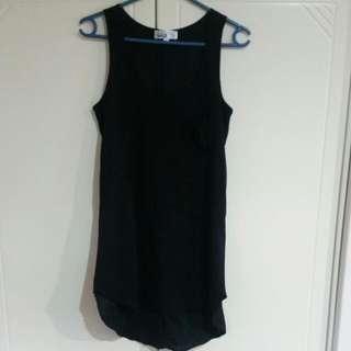 i.d.s Long Black Singlet Size 6