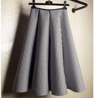 條紋大波浪裙
