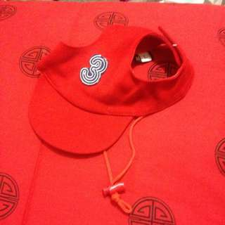 Red Cap With Straps