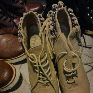 厚底粗跟高跟鞋