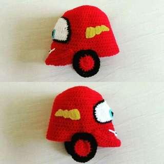 Disney Cars Lightning McQueen Crochet Hat