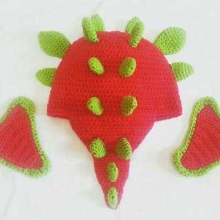 Dragon Crochet Hat