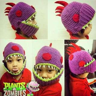 PVZ Plants Vs Zombies Chomper Crochet Hat