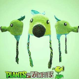 PVZ Plants Vs Zombies Peashooter Crochet Hat