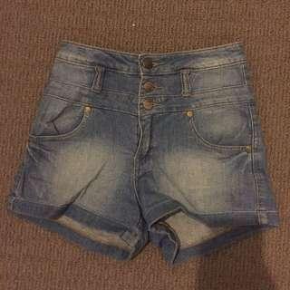 MissShop High-Waisted Denim Shorts