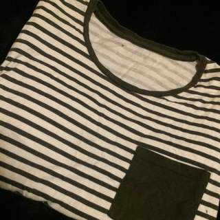 Drop Back Striped Shirt