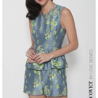 Love Bonito Covet Jovea Jacquard Playsuit