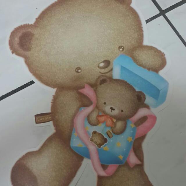 可愛小熊信紙