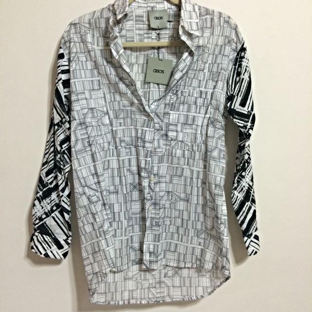 (預定)【英國ASOS】幾何建築圖案長袖襯衫 - 全新正品含吊牌