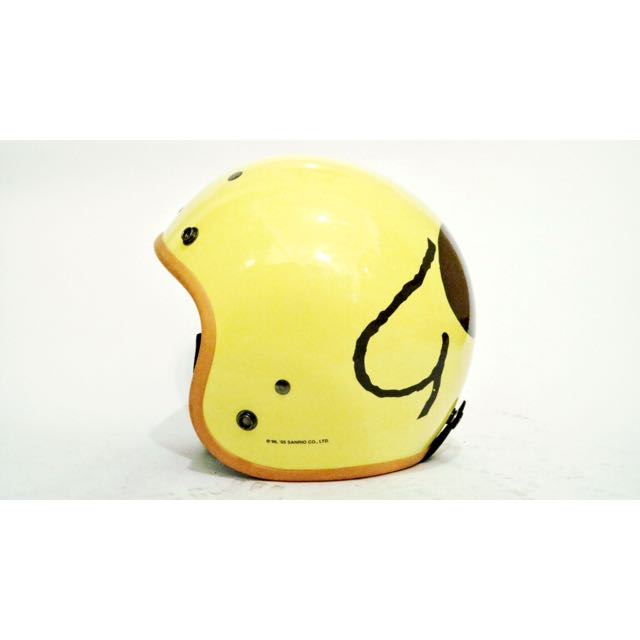 布丁狗圖案小頭安全帽