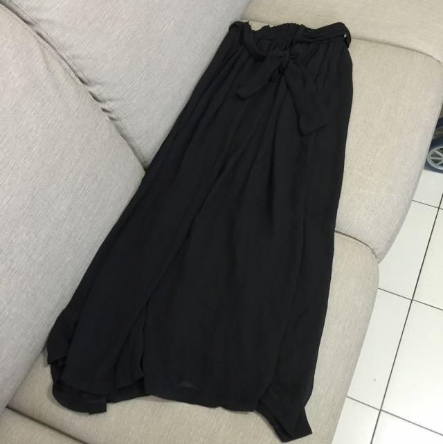 雪紡黑長裙