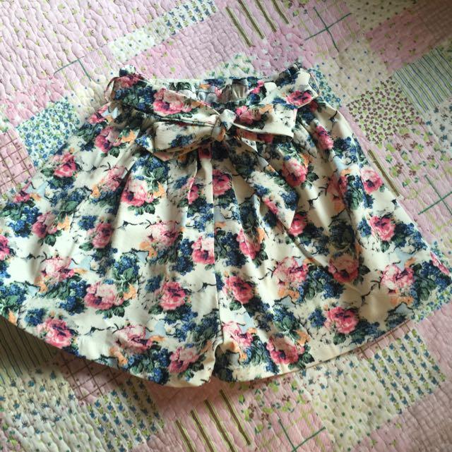 花漾雪紡褲裙