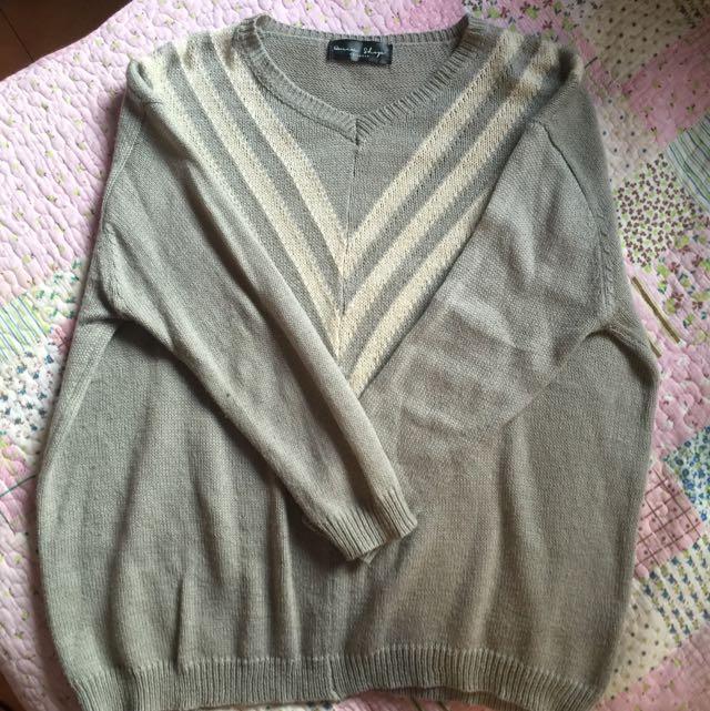 灰白學院針織衣