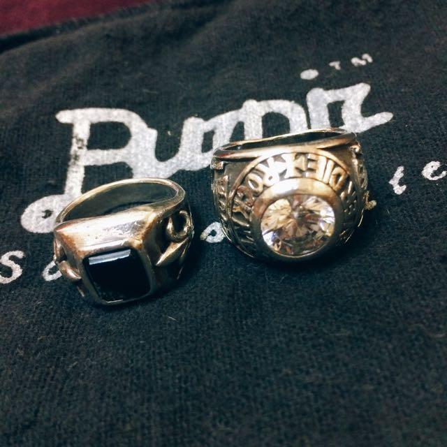 知名品牌破銅爛鐵純銀戒指