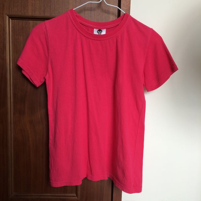 粉紅 素色 上衣 短袖