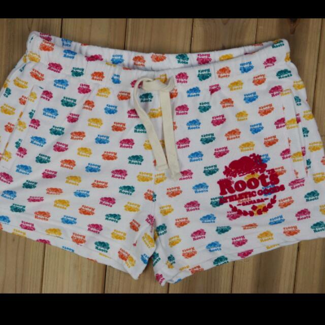 全新正品 加拿大 ROOTS 女款 小短褲 彩色小海狸