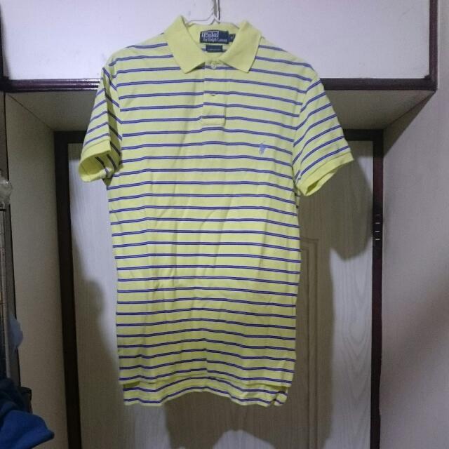正品 Ralph Lauren Polo S號 條紋polo衫