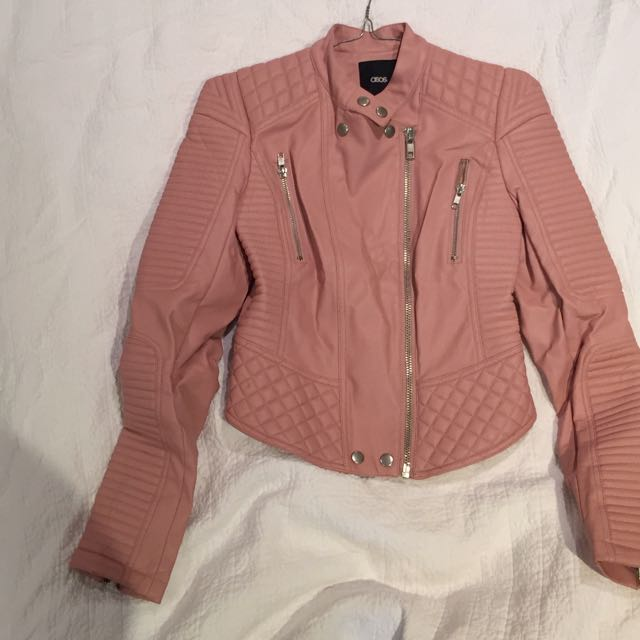 Asos Faux Leather Jacket Size 4