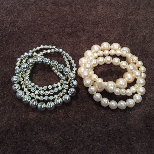 Beaded bracelets x 2