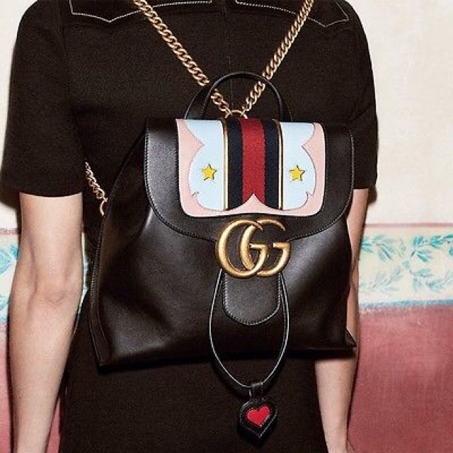 c765285b27da Brand New Gucci Marmont Leather Backpack - Fresh From The Store, Women's  Fashion on Carousell