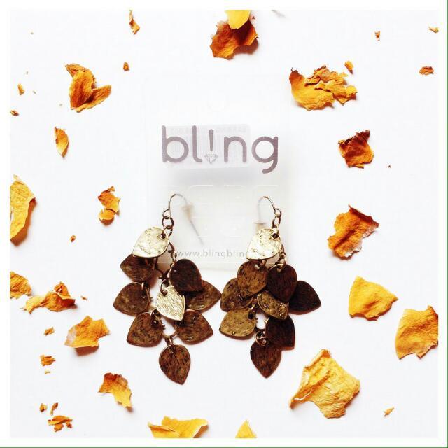 Bronze Leaves Earring (Bling).