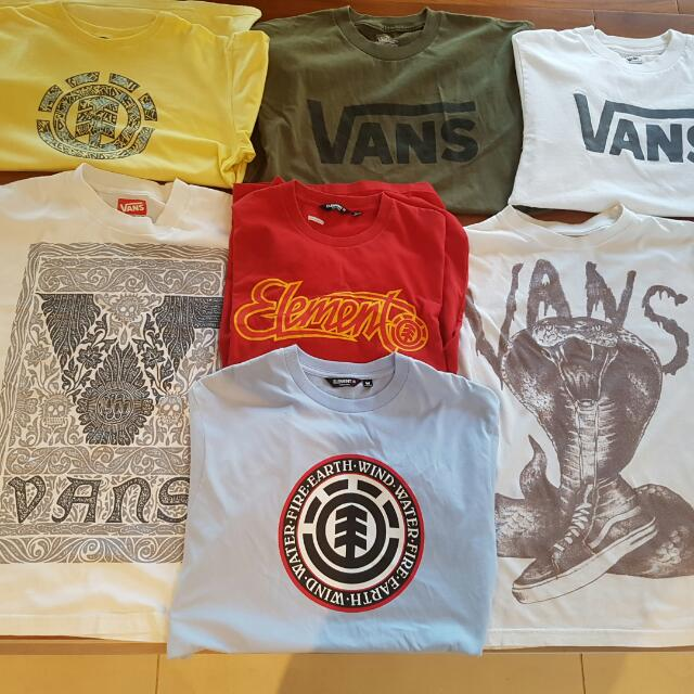 Bulk VANS and One Element T.shits