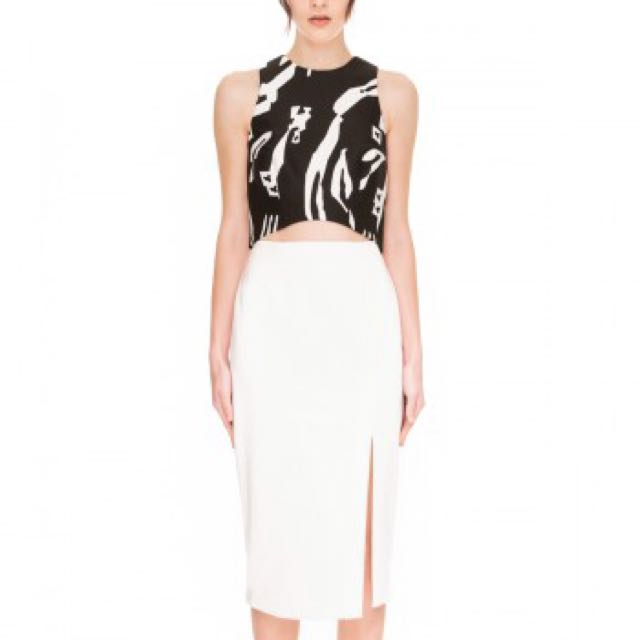 C/meo Collective The Nights Skirt White