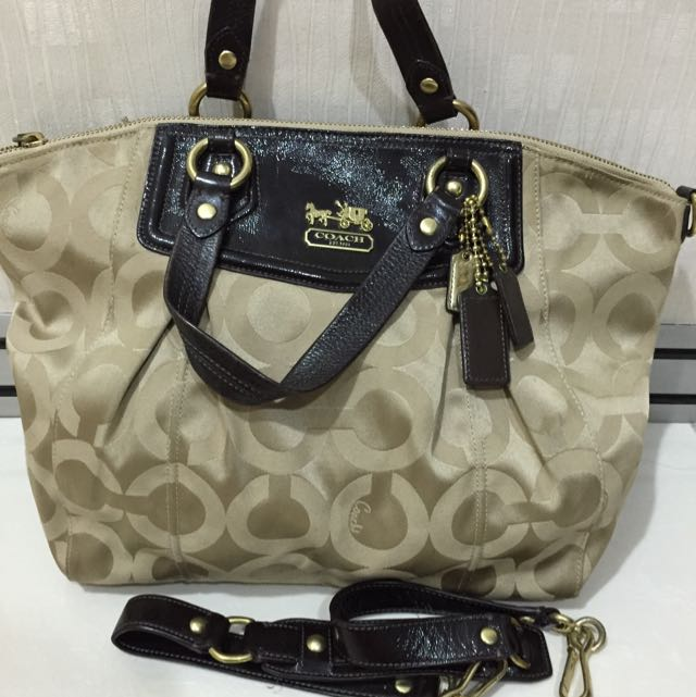 COACH hand bag with strap for sling
