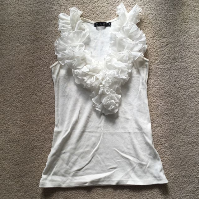 Off White Singlet Top