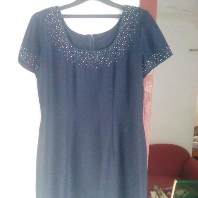 Dress Biru Gelap