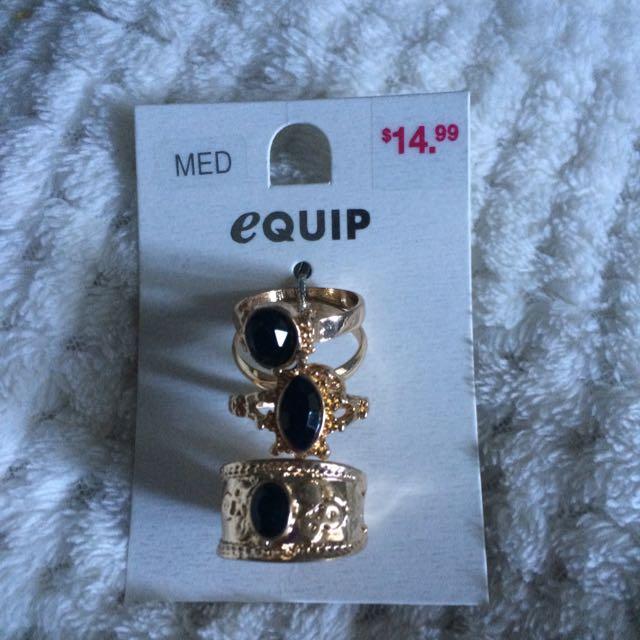 Equip Medium Gold Rings