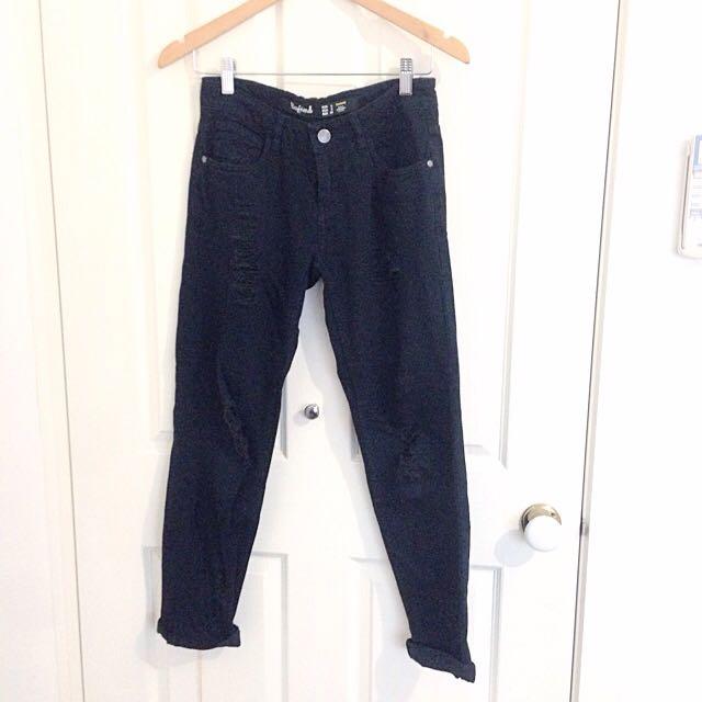 Factorie Ripped Boyfriend Jeans Xs 6