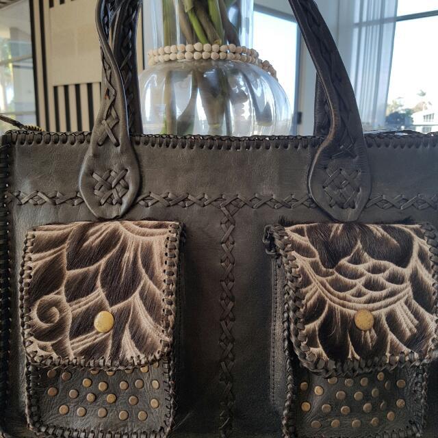 Genuine Leather Boho Bag