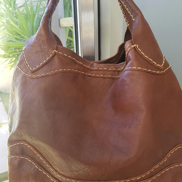Genuine leather Soft Boho Brown Bag Great Condition