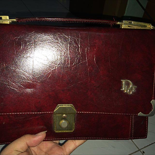 Handbag Kulit Asli Tahun 90an