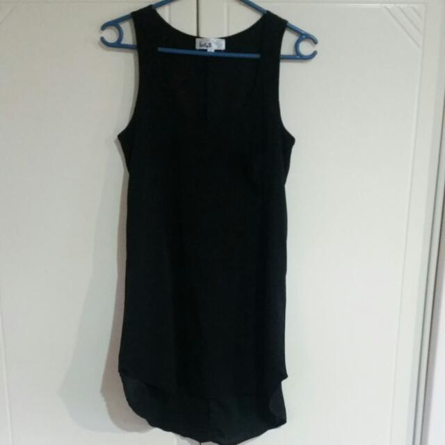 i.d.s Long Black Singlet Size 6