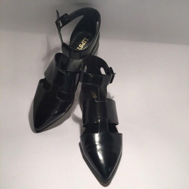 Lipstik Black Celest Flat Shoes